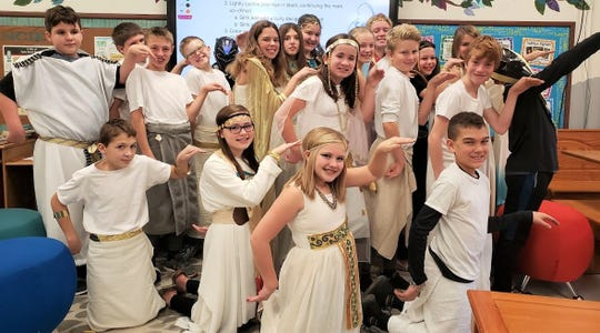 Kiel Middle School sixth-grade students recently celebrated Egyptian Day.
