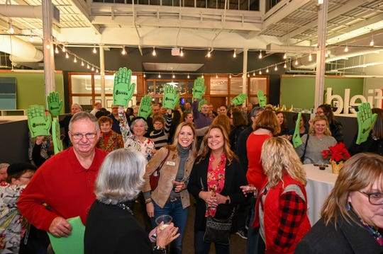 A Richland Gives Leader Board Watch Party was held at Idea Works in Mansfield Wednesday to celebrate the donations raised online by 92 Richland County nonprofit organizations.