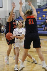 Ontario's Carleigh Pearson scored 19 points in the Lady Warriors' win over Galion last week.