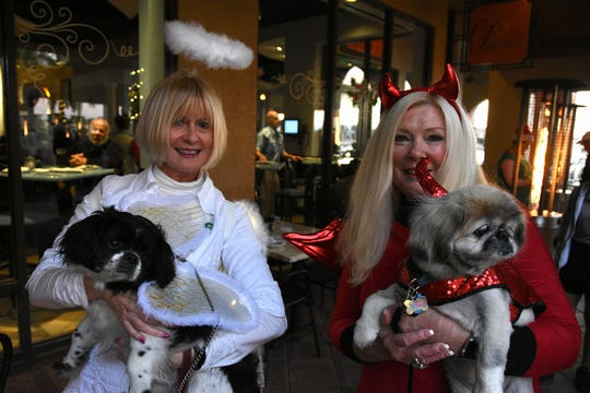 Pooches and their owners arrived in costumes during Tuesday's Canine Christmas Parade on Marco Island.