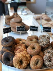 Bagels at Birch + Butcher, 459 E. Pleasant St., are for sale in the shop daily starting at 7:30 in the morning. They're also on the menu in the restaurant for weekend brunch.