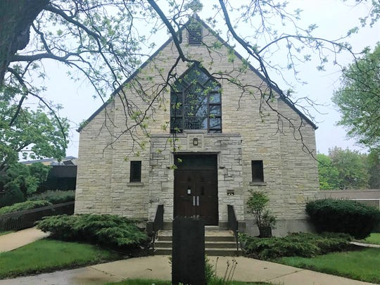 The former Lumen Christi Church would be converted to light office use as part of developer Greg Devorkin's proposal to build 10 single-family homes on the northeast corner of Buntrock Avenue and Orchard Street.