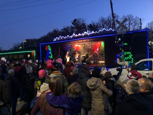 The Canadian Pacific Holiday Train entertained hundreds in Wauwatosa on Tuesday, Dec. 3.