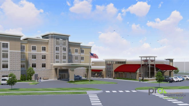 Two hotels and an event/conference center will be constructed south of the Oak Creek Ikea.