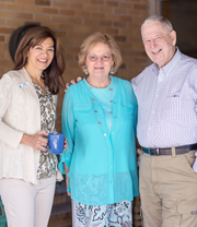 Patty Metropulos, left, a Delafield native, is the president and CEO of Kathy's House. Metropulos is pictured with two guests of Kathy's House, a nonprofit hospital guest house that provides affordable lodging for people who need to travel to Milwaukee for medical care.