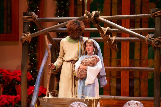 Timothy Brannon and Ann Welch Hilyer in a manger scene. ASF presents The Best Christmas Pageant Ever, which runs Dec. 5-29.