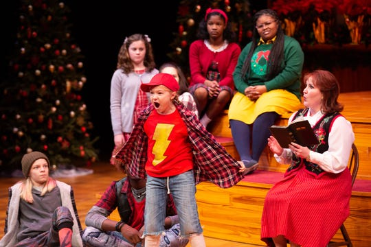 Eva Kate Mason and the cast in a scene. ASF presents The Best Christmas Pageant Ever, which runs Dec. 5-29.