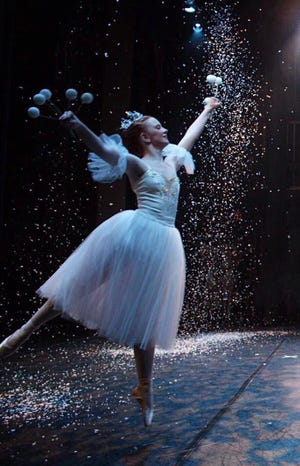 "Millie Hodge dancing ""Snow"" from ""Kingdom of Snow"" at the end of the first act of ""The Nutcracker""."