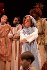 Ann Welch Hilyer and the cast in a scene. ASF presents The Best Christmas Pageant Ever, which runs Dec. 5-29.
