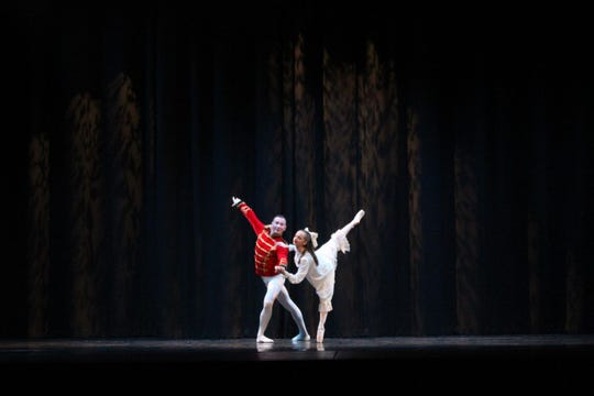 """Sarah Paterson dancing the role of """"Clara""""."""