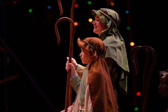 Lannom Bowman and Claude Newsome in a scene. ASF presents The Best Christmas Pageant Ever, which runs Dec. 5-29.