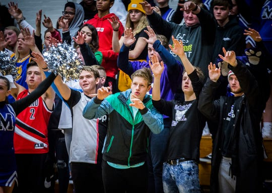 Central played Fishers during their game at the Muncie Fieldhouse Tuesday Dec.3, 2019. The game was the first played in the Fieldhouse since it was closed due to storm damage in 2017.