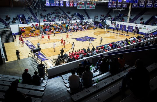 Central boys basketball played for the first time in the newly reopened Muncie Fieldhouse on Tuesday, Dec. 3, 2019.