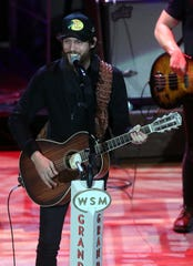 Chris Janson performs during NASCAR Night at the Opry held at The Ryman Auditorium Tuesday, December 3, 2019.