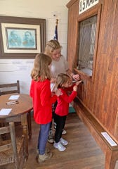 Children were able to mail their letters to Santa at the Jingo Post Office in the Historic Village in Fairview on Nov. 30, 2019.