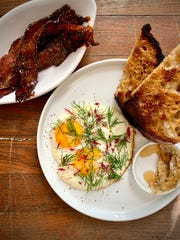 Fennel bacon and eggs at Lou.