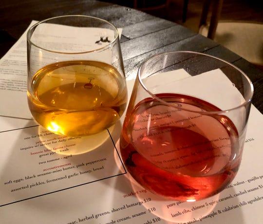 Natural wines at Lou.