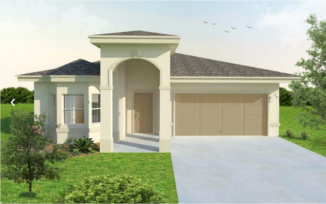 An artist's conception of the Casa Feliz, a single-family home by FL Star at Arrowhead Reserve.