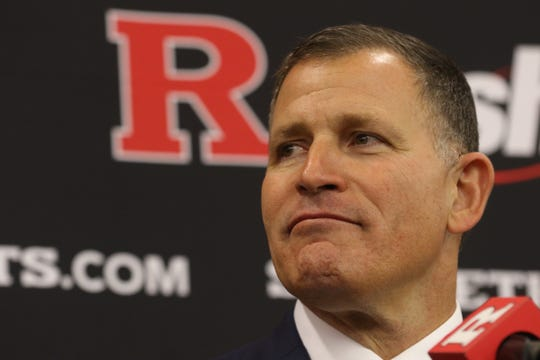 Greg Schiano gives a speech where he described his ÒChopÓ slogan as he was introduced for his second tour as Rutgers head football coach on December 4, 2019 at the Hale Center on Rutgers campus in Piscataway, NJ.