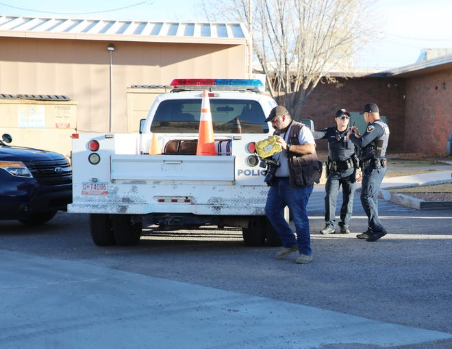 Las Cruces Police Department units responded to what was reportedly an accidental discharge of a school resource officer's weapon at Picacho Middle School on Wednesday, December 4, 2019.