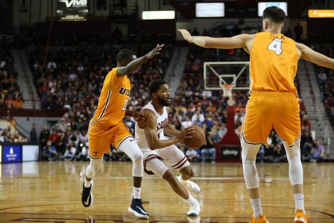 New Mexico State faced UTEP in a non-conference basketball game on Tuesday, Dec. 3, 2019 at the Pan American Center in Las Cruces, N.M.