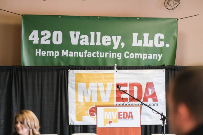 Public officials speak at the announcement of 420 Valley, LLC business in Las Cruces on Wednesday, Dec. 4, 2019.