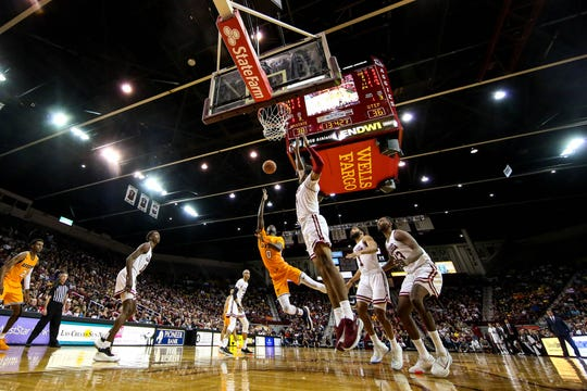 The NMSU Aggies face off against the UTEP Miners at the Pan American Center in Las Cruces on Tuesday, Dec. 3, 2019.