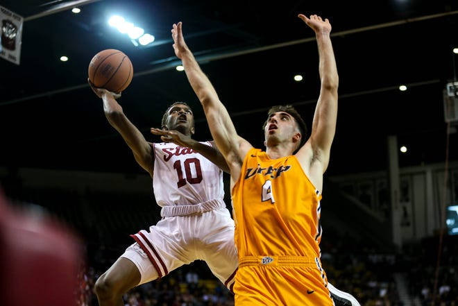 The New Mexico State men's basketball team faces Washington State on the road Saturday at 1 p.m. MT.
