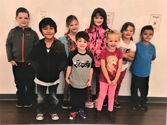 Each one in the group is a very special student of the month from Sierra Vista Primary.