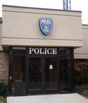 The Milford Police Department station outside the village.