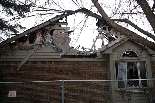 The home at 500 Merion Drive in Canton was fenced off and empty since it was severely damaged by fire on Oct. 23, 2018.