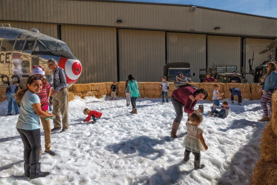 The Santa Fly-In and Snow World event at Palm Springs Air Museum will take place both Saturday Dec. 14 and Sunday, Dec. 15, 2019