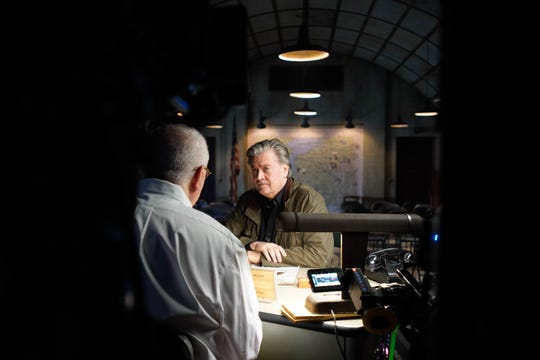 Steve Bannon talks with director Errol Morris in 'American Dharma.'