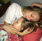 Abri Bentley with her sister Ashlyn.