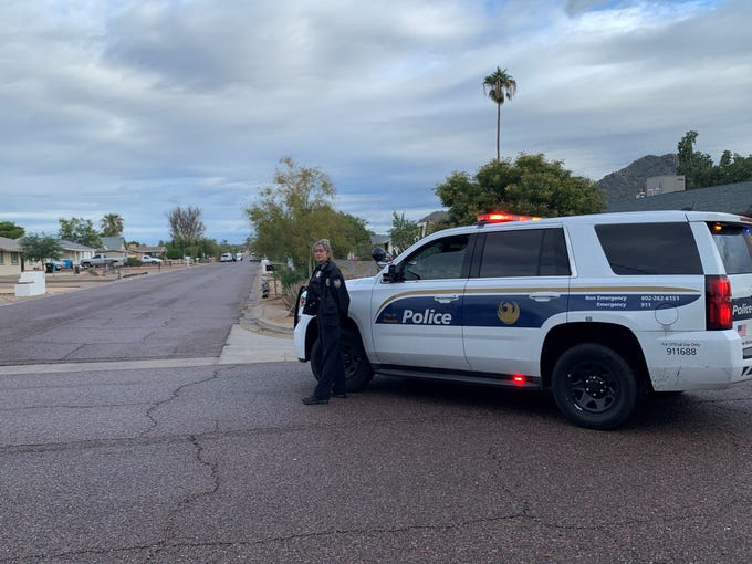 A man was at large in Phoenix after two vehicles were carjacked at gunpoint Wednesday morning, Dec. 4, 2019.