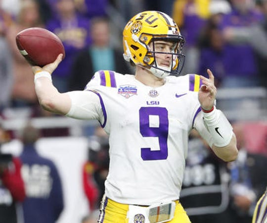 LSU quarterback Joe Burrow is a lock to be the first pick of the 2020 NFL Draft.