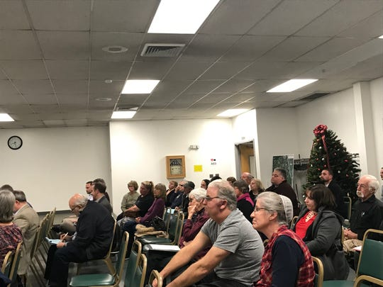 Roughly 40 residents came to a meeting Tuesday night to see whether a massive warehouse will be built near their homes.
