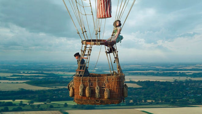 """Eddie Redmayne, left, and Felicity Jones star in """"The Aeronauts."""" The movie is playing at Small Star Art House."""
