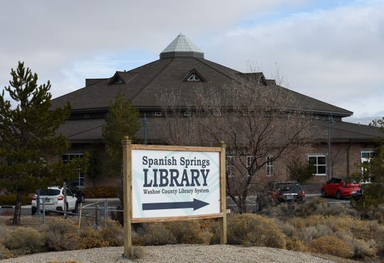A photo of the Spanish Springs Library near the Lazy 5 Regional Park taken on Dec. 3, 2019.