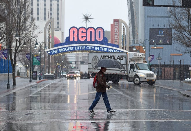Reno Forecasters Winter Storm To Dump Snow Rain This Weekend
