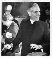 Bishop Fulton J. Sheen, Bishop of diocese of Rochester, 1966-1969, taken during his installation.