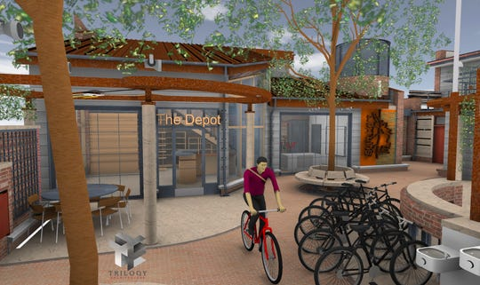 A rendering of the Bike Depot in downtown Redding.