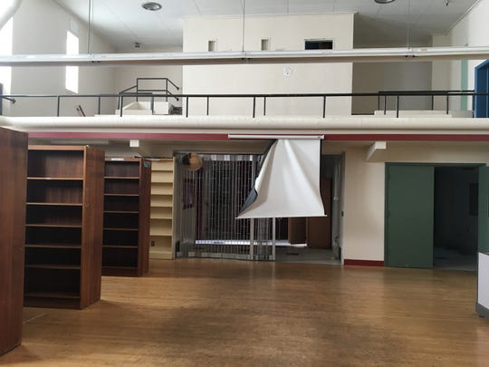 The Farrell School library and auditorium inside the former Hillcrest Youth Correctional Facility in Salem.