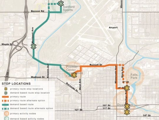 City Hall is investigating a shuttle system between popular attractions in Sioux Falls.