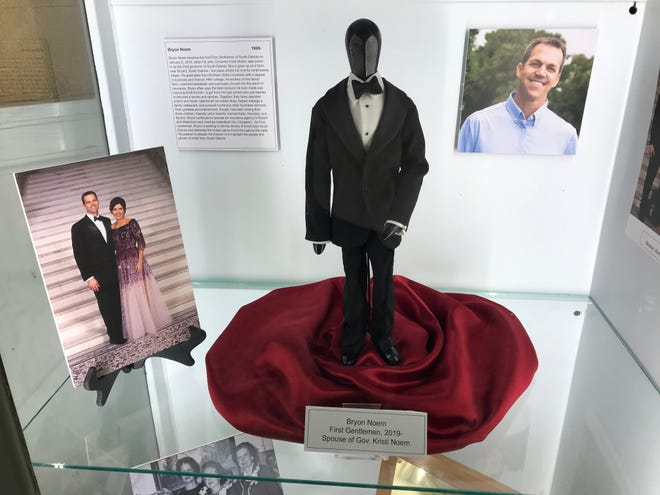 The doll displaying Bryon Noem's tuxedo from the inauguration of his wife, Kristi Noem, as governor.