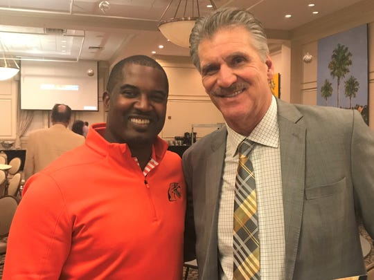 FAMU head coach Willie Simmons and former college/NFL head coach Dave Wannstedt were among the guests at the Tallahassee Quarterback Club jamboree on Tuesday, Dec. 3, 2019.