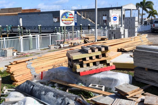 The city of Fort Pierce is considering a year-long moratorium on impact fees for new construction in the Fort Pierce Redevelopment Area. Seen here is a construction of Crabby's Dockside restaurant on Dec. 4, 2019 at the Fort Pierce City Marina which is inside the redevelopment area.
