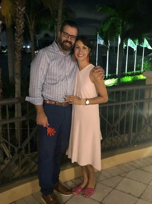 Beth Scheibel, right, will chair the Vero Beach Leukemia & Lymphoma Society  Gala, set for Feb. 3, 2020, at Quail Valley River Club, Vero Beach. Scheibel is pictured here with her husband, Jason.