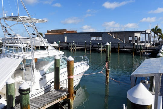 Construction continues on a new restaurant, Crabby's Dockside, on Wednesday, Dec. 4, 2019, at the Fort Pierce City Marina. Along with restaurant, new fuel, water and wastewater lines are also being updated, leaving boaters with no way of pumping out sewage. The free service stopped in July and is scheduled to resume in March 2020 when the construction project is finished.