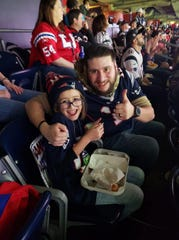 Kaitlyn Melendez and her dad enjoyed the Patriots vs Texans game Dec. 1 thanks to free tickets from the Patriots owner, Robert Kraft.